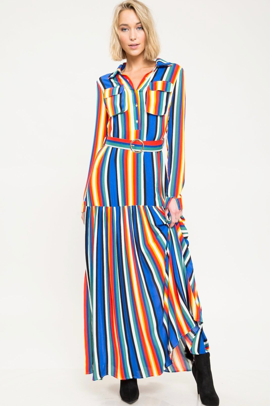 Innerbloom Stripe Maxi Dress - Geegeebae