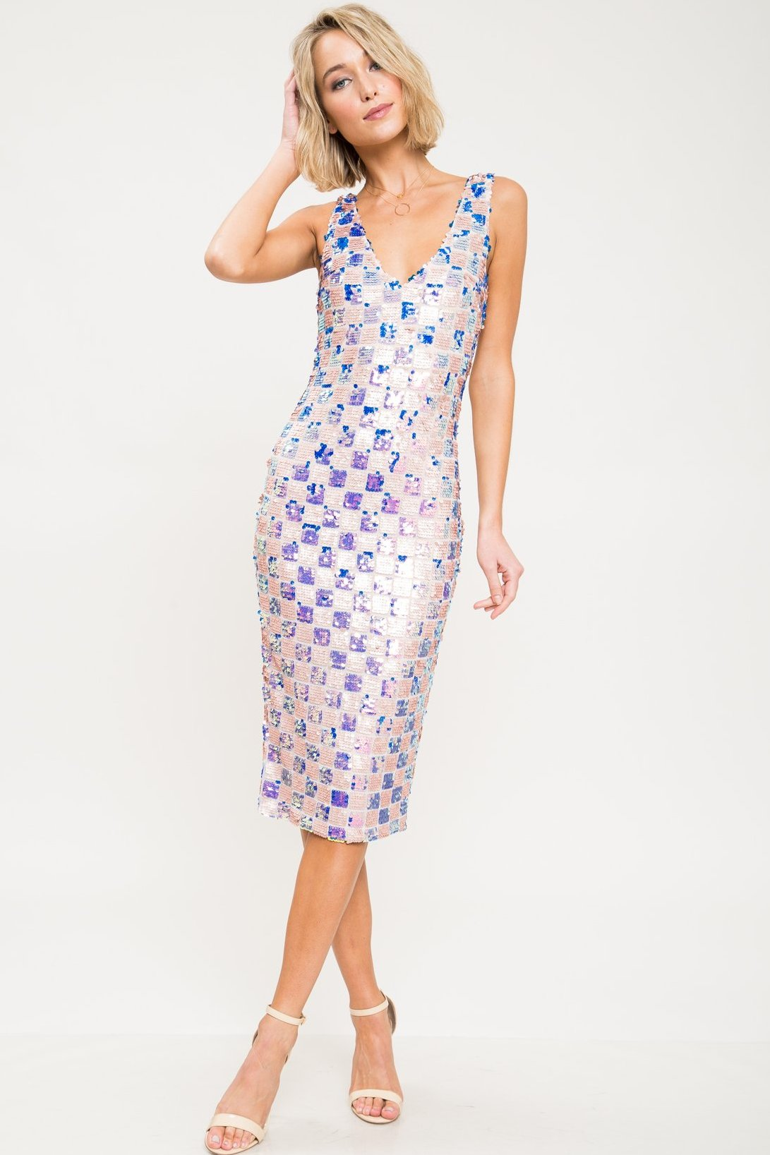 La Dolce Vita Sequin Midi Dress - Geegeebae