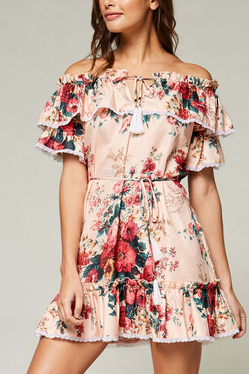 Wendy Floral Off-Shoulder Mini Dress