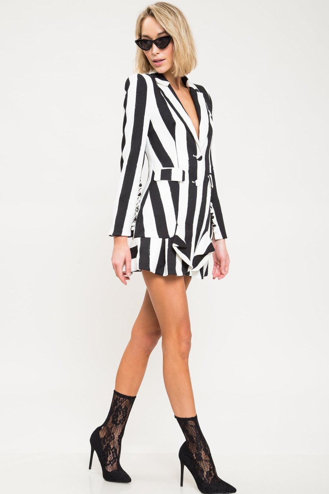 If I Were A Boy Stripe Blazer Dress - Geegeebae