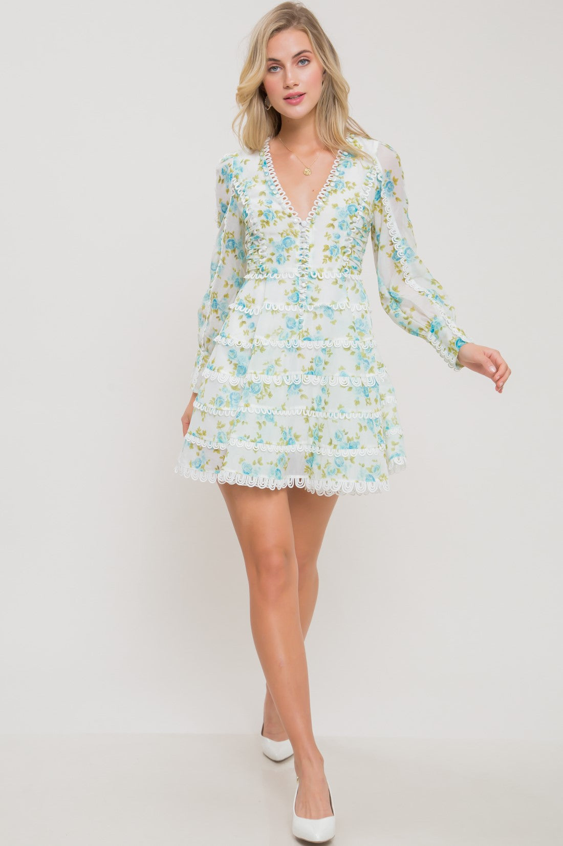 Secret Garden Floral Mini Dress - Geegeebae