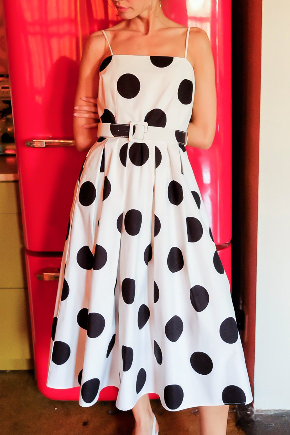 Sweet Fever Polka Dot Midi Dress