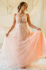 Queen of Kings Beaded Tulle Gown