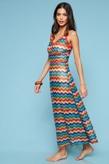 Cover Me Not Rainbow Crochet Maxi Dress. - Geegeebae