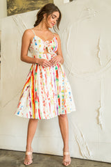 Jackie Pollock Paint Stroke Dress - Geegeebae