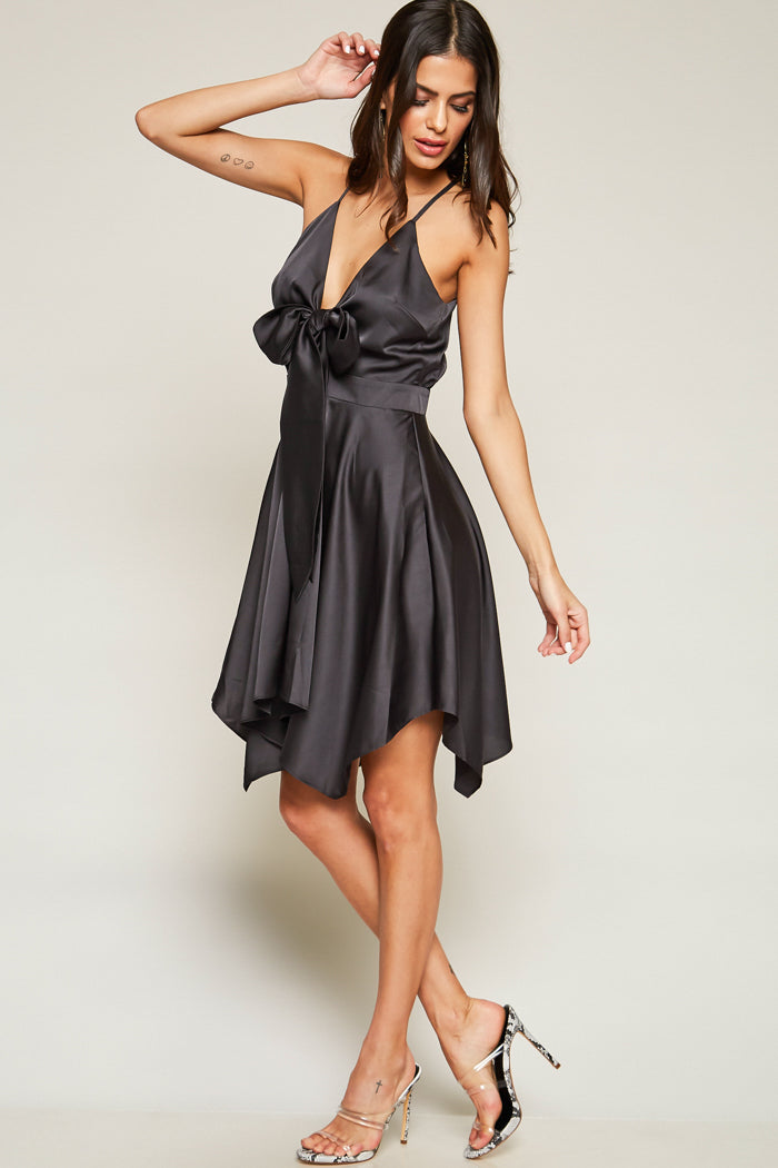 All Day All Night Tie-Front Dress