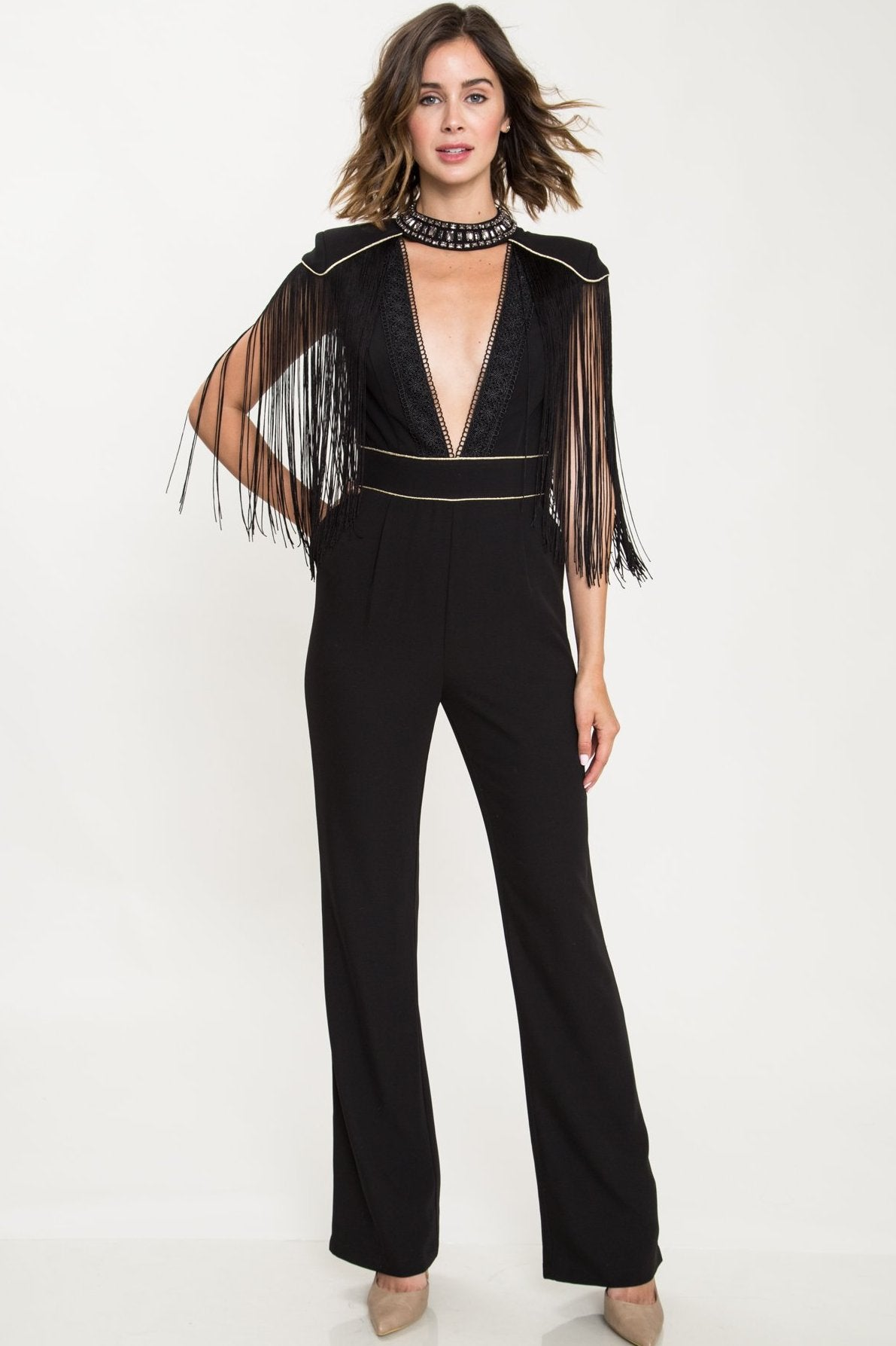 All Night Dancing Fringe Jumpsuit - Geegeebae