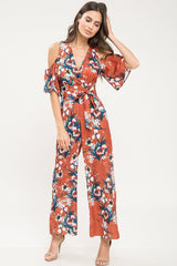 Autumn Cold Shoulder Jumpsuit - Geegeebae