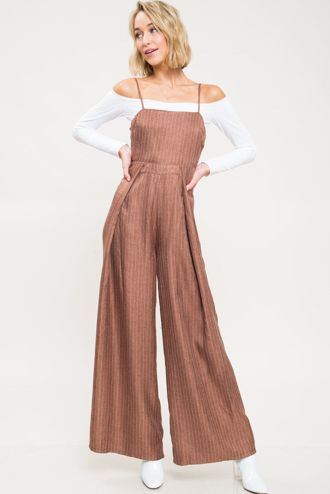 My Feeling Tie Back Jumpsuit - Geegeebae