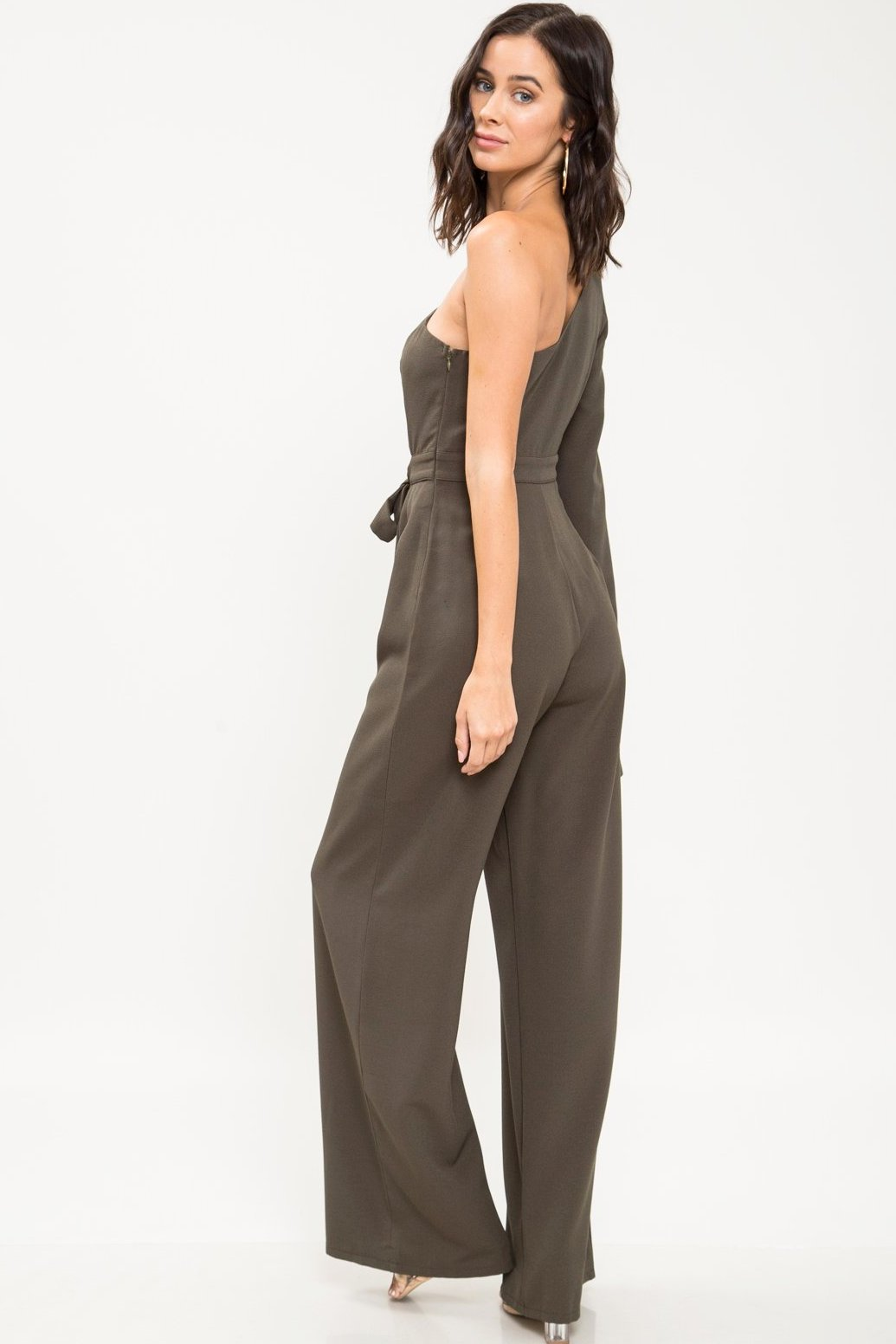 Trisha Cutout One Shoulder Jumpsuit - Geegeebae