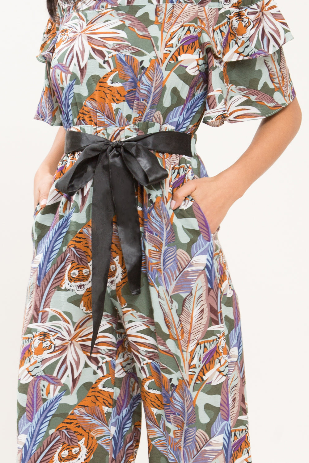 Jungle Dreams Off Shoulder Jumpsuit - Geegeebae