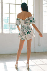 Ivana Off Shoulder Cutout Romper - Geegeebae