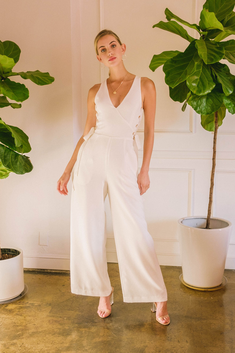 Happy Hour Lace-Up Jumpsuit - Geegeebae
