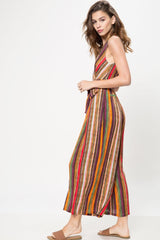 Colors Of The Wind Stripe Jumpsuit - Geegeebae