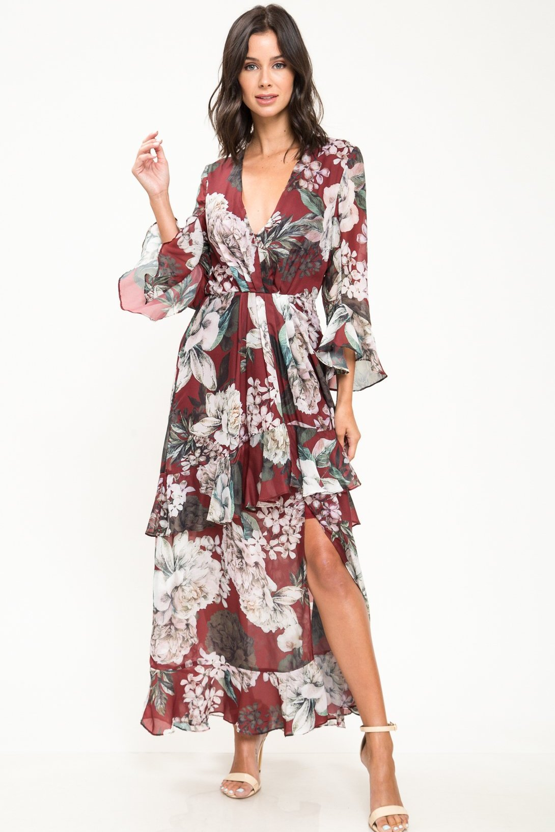 Just A Girl Floral Maxi Dress - Geegeebae