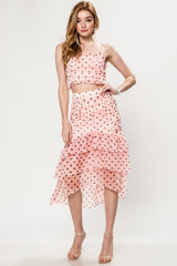 Lovie Dovie Polka Dot Ruffle Skirt Set - Geegeebae