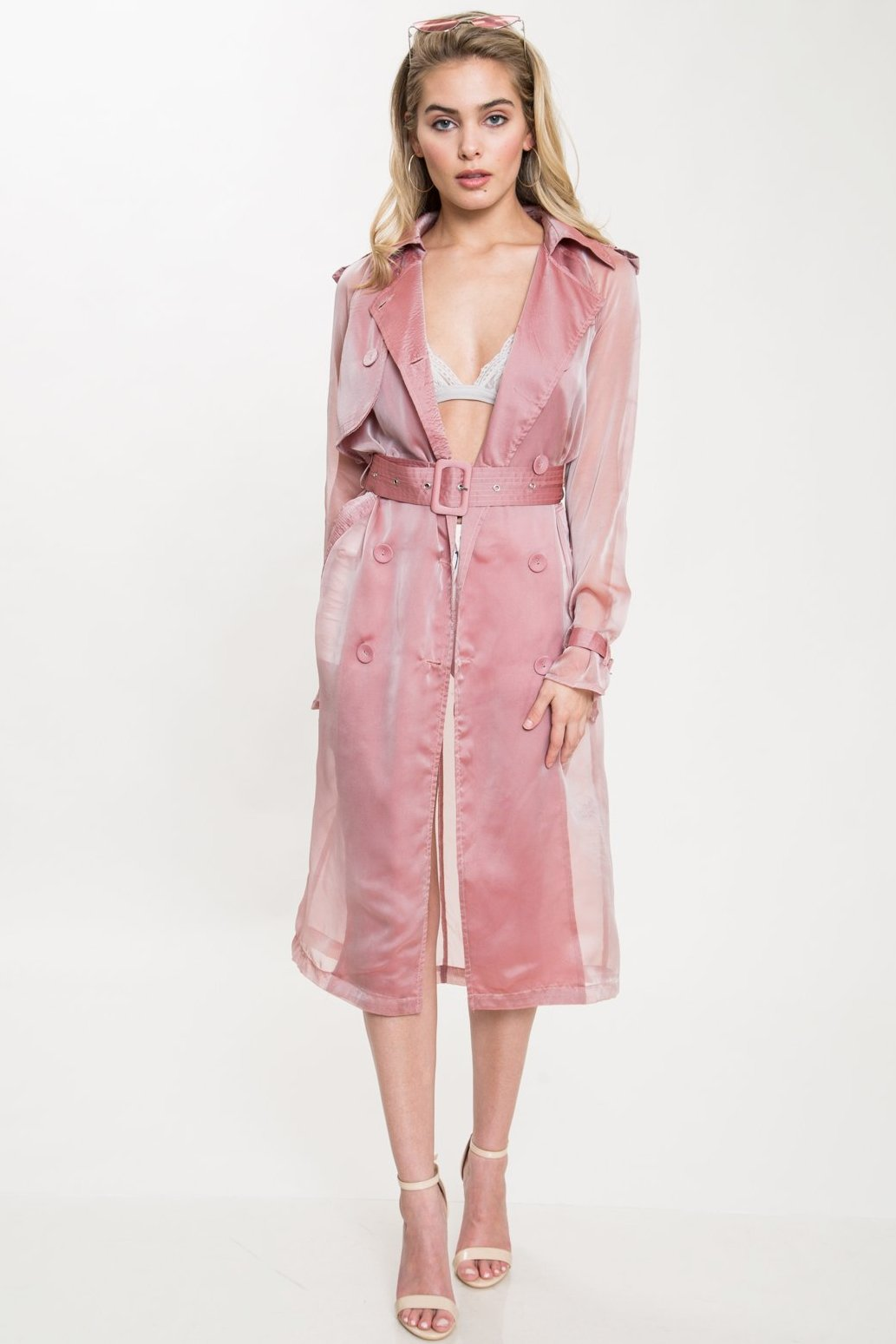 Yana Sheer Organza Trench Coat - Geegeebae - L'autiste - Front view 2