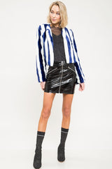 Cory Striped Faux-Fur Jacket - Geegeebae