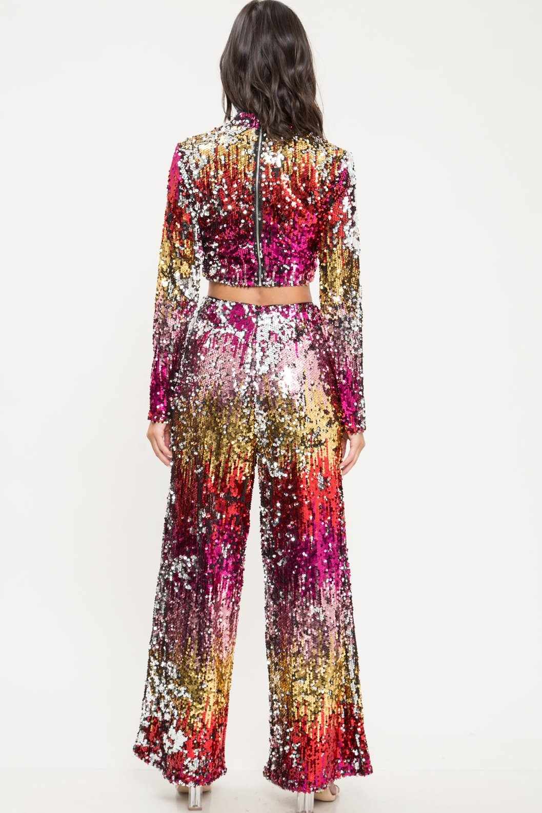 Phoenix Ombre Sequin Pants Set - Geegeebae