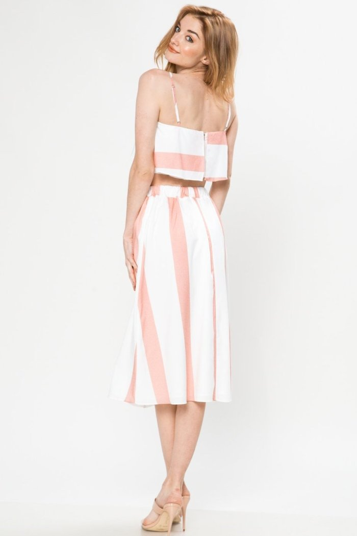 Cry Pretty Stripe Skirt Set - Geegeebae