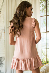 Blush Baby Ruffle Button-up Mini Dress - Geegeebae
