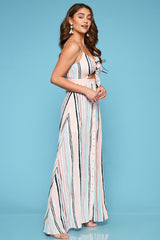 Sabrina Multi-Stripe Maxi Dress