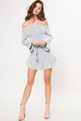 Cloud Nine Off Shoulder Sweater Dress - Geegeebae