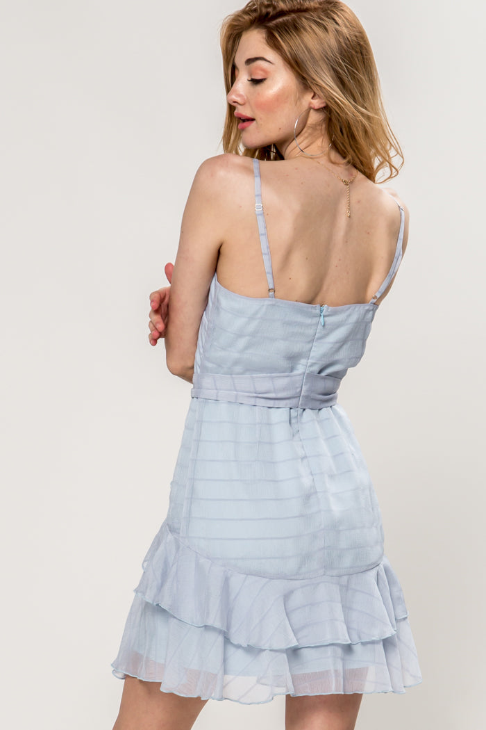 Winnie Ruffled Chiffon Mini Dress