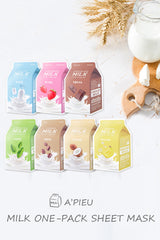 [A'PIEU]White Milk One Pack Sheet Mask - Geegeebae