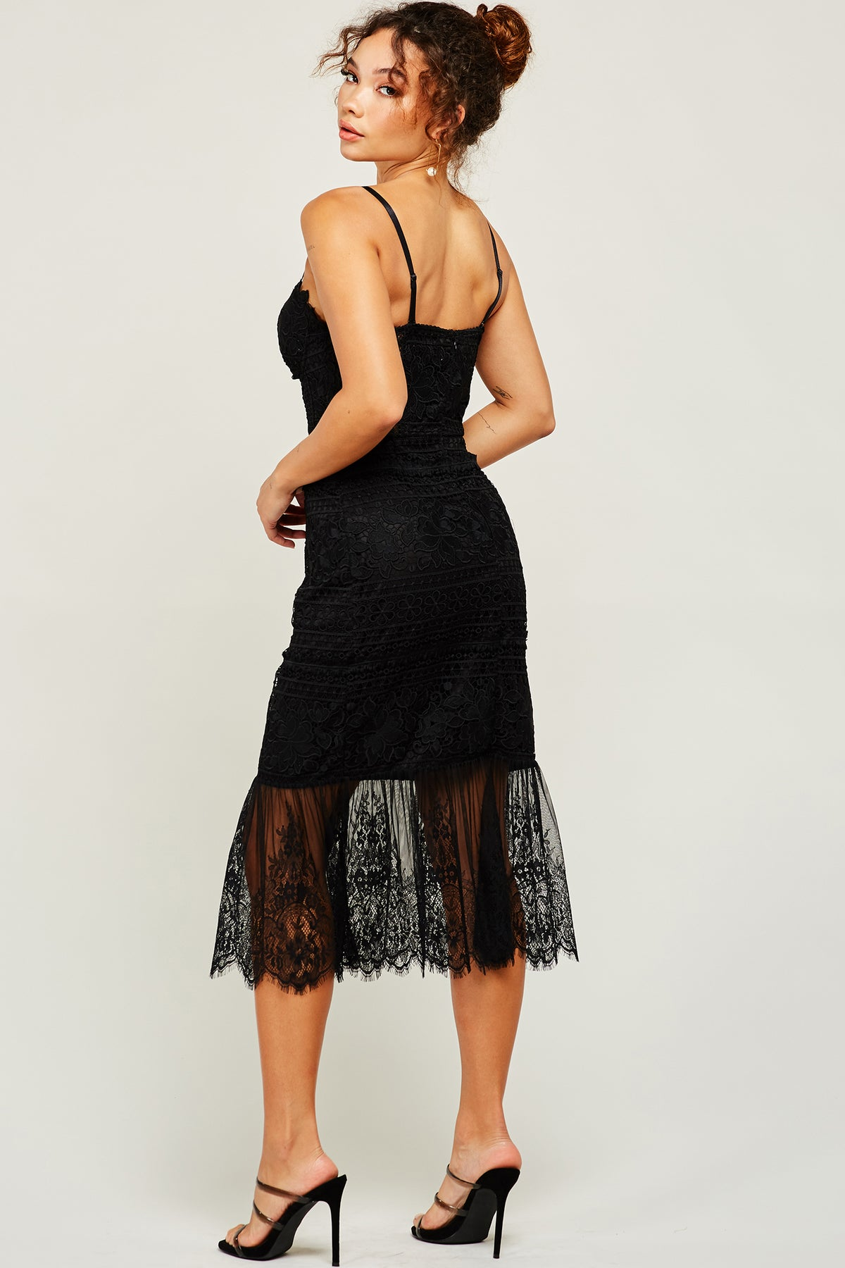 Dark Romance Lace Midi Dress - Geegeebae
