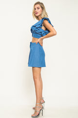 Ooh La La Chambray Shorts Set