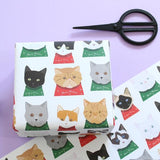 Xmas cat wrapping paper