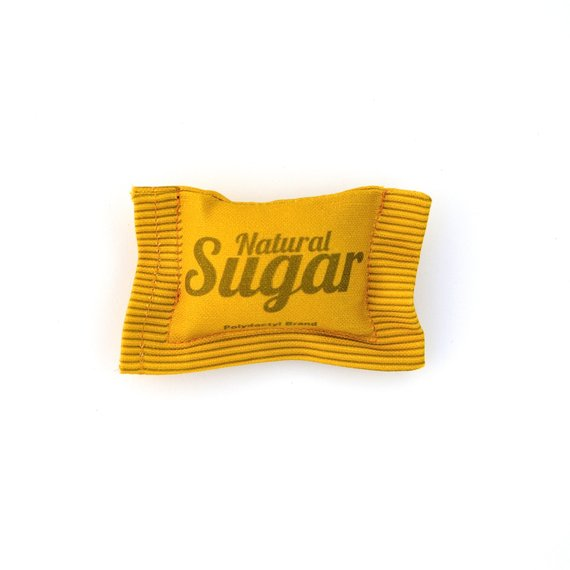 Sugar packet catnip toy