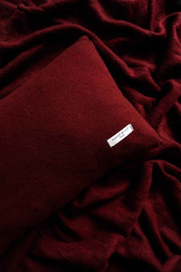 Burgundy Cashmere Pillow