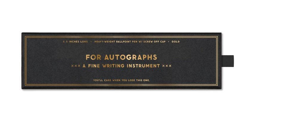 Easy, Tiger For Autographs Gold Pen