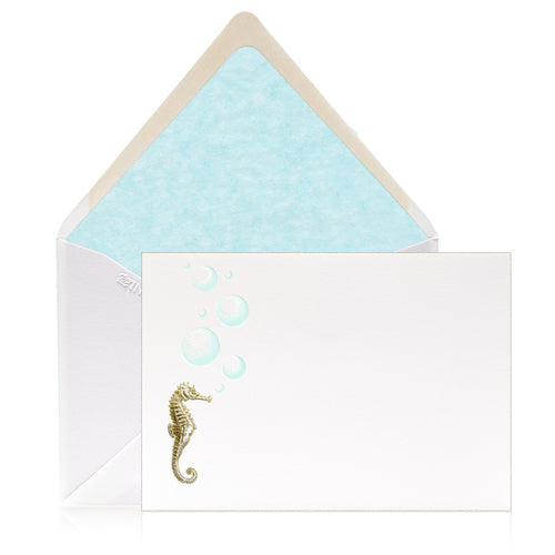 Bell'INVITO Engraved Under The Sea Note Cards-Set of 12