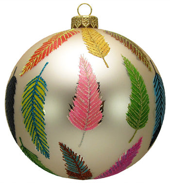 Thomas Glenn Feather Hand-Painted Ornament