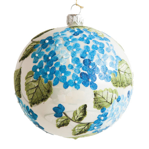 Thomas Glenn Hydrangea Hand-Painted Ornament