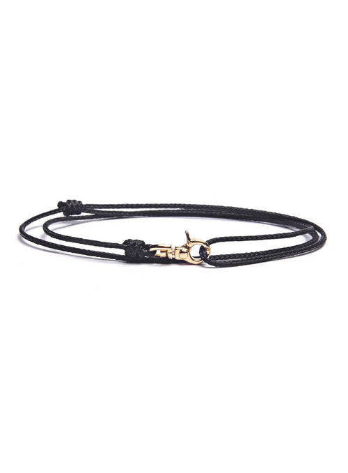 We Are All Smith Rope Bracelet with Gold Clasp- Black