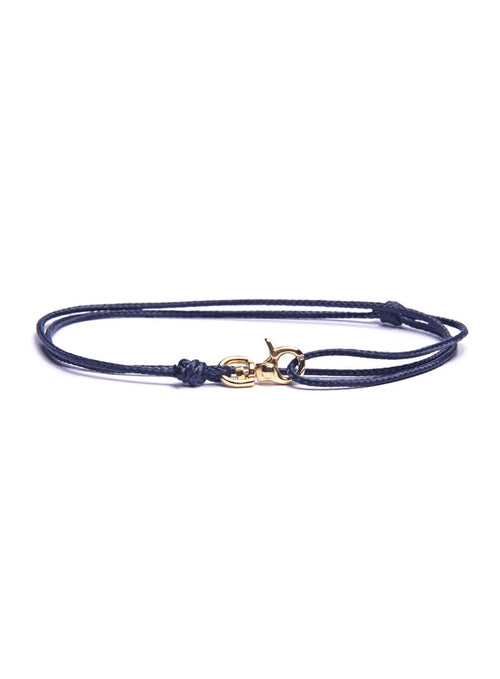We Are All Smith Rope Bracelet with Gold Clasp- Navy