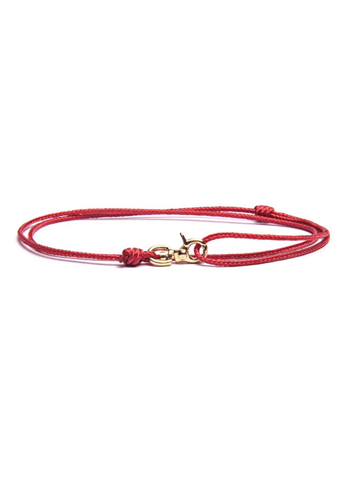 We Are All Smith Rope Bracelet with Gold Clasp- Red