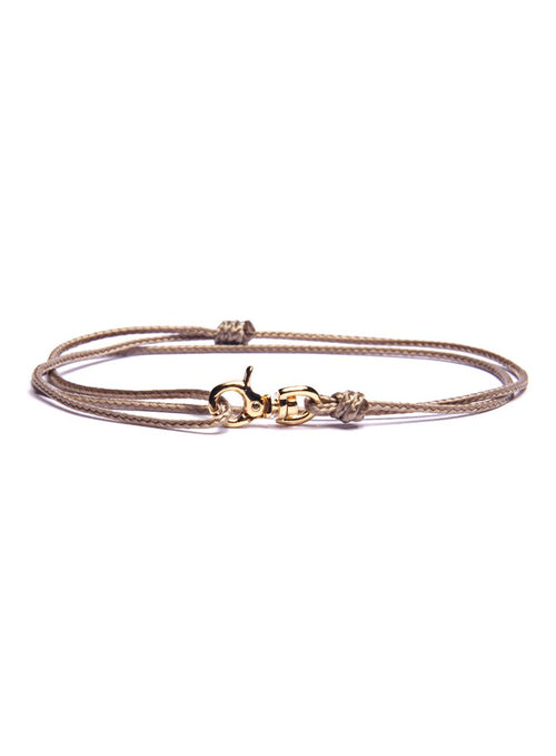 We Are All Smith Rope Bracelet with Gold Clasp- Taupe
