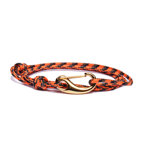 "We Are All Smith ""Blades"" Tactical Rope Bracelet- Orange / Black"