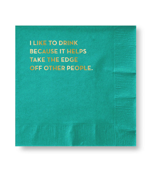"Sapling Press ""Other People"" Paper Cocktail Napkins- Box of 20"