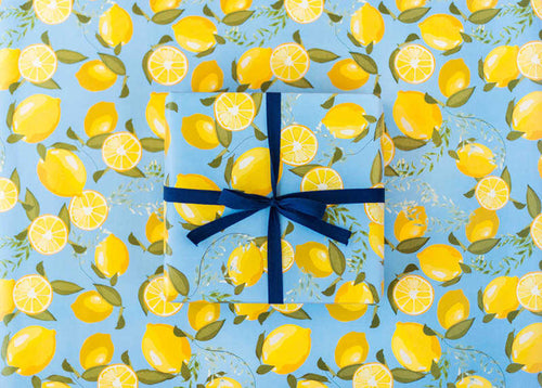 Sweet Caroline Lemons Wrapping Paper