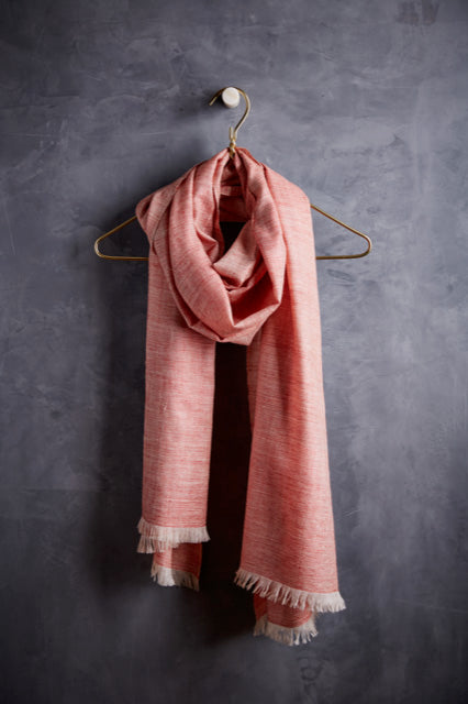 Andraab Sehra Cashmere Shawl- Pink