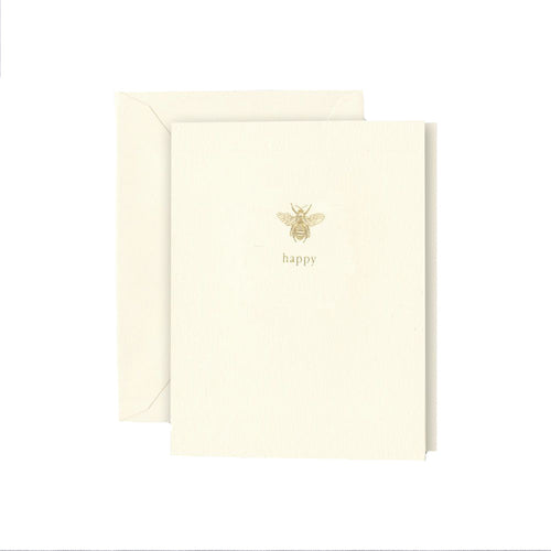 "Crane and Co ""Bee Happy"" Greeting Card"