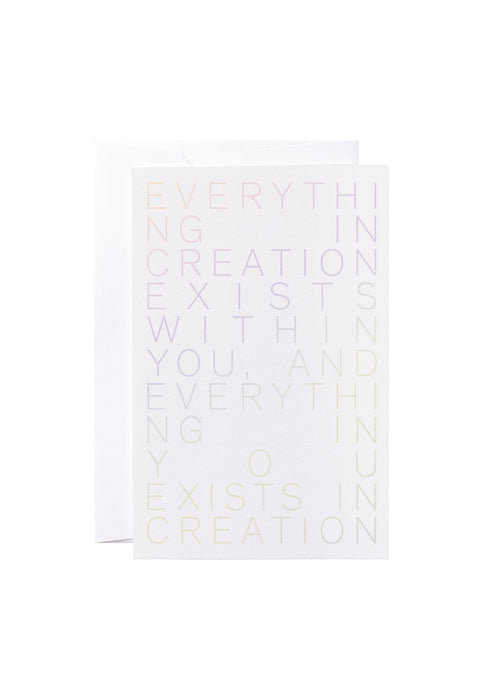 "Noat Letterpress Single Blank Card- ""Creation"""