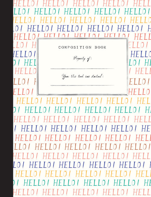 Mr. Boddington Composition Notebook- Hello Goodbye