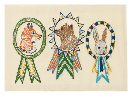 Coral and Tusk Champs Embroidered Card
